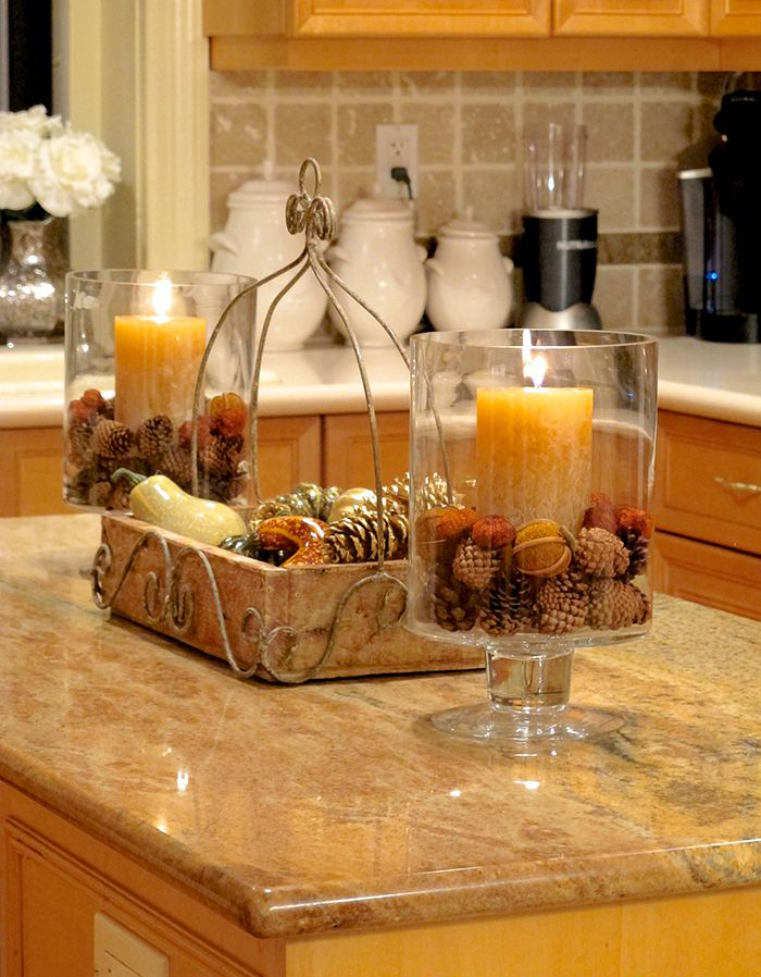 countertop with decoration