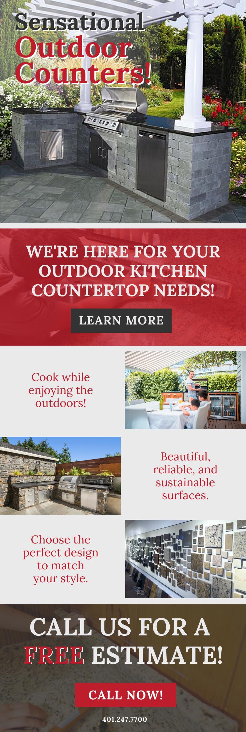 Beautiful Outdoor Countertops! ✨ 1